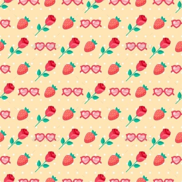 Valentine Seamless Pattern.  - Patterns Decorative