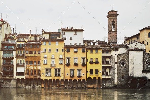 Colors along the Arno Italy - Stock Photo - Images