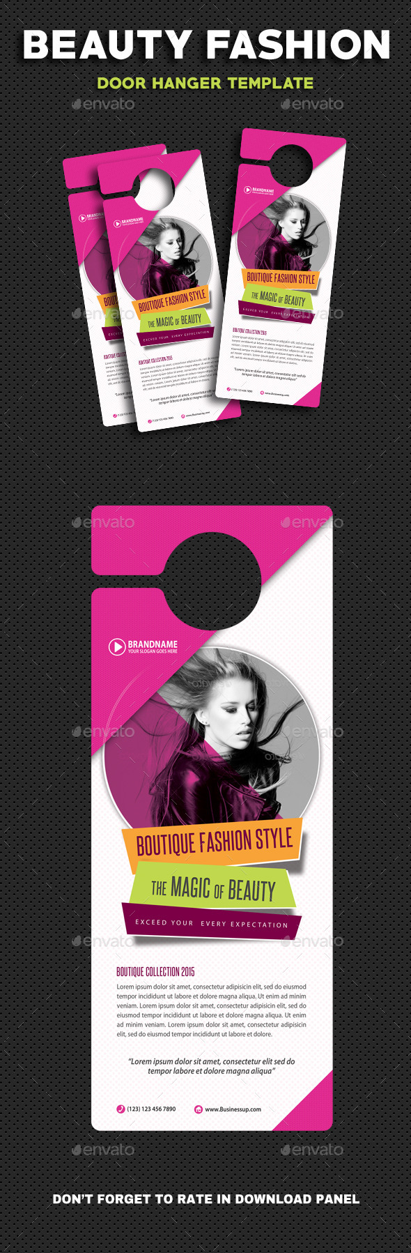 Beauty Fashion Door Hanger V2 - Miscellaneous Print Templates