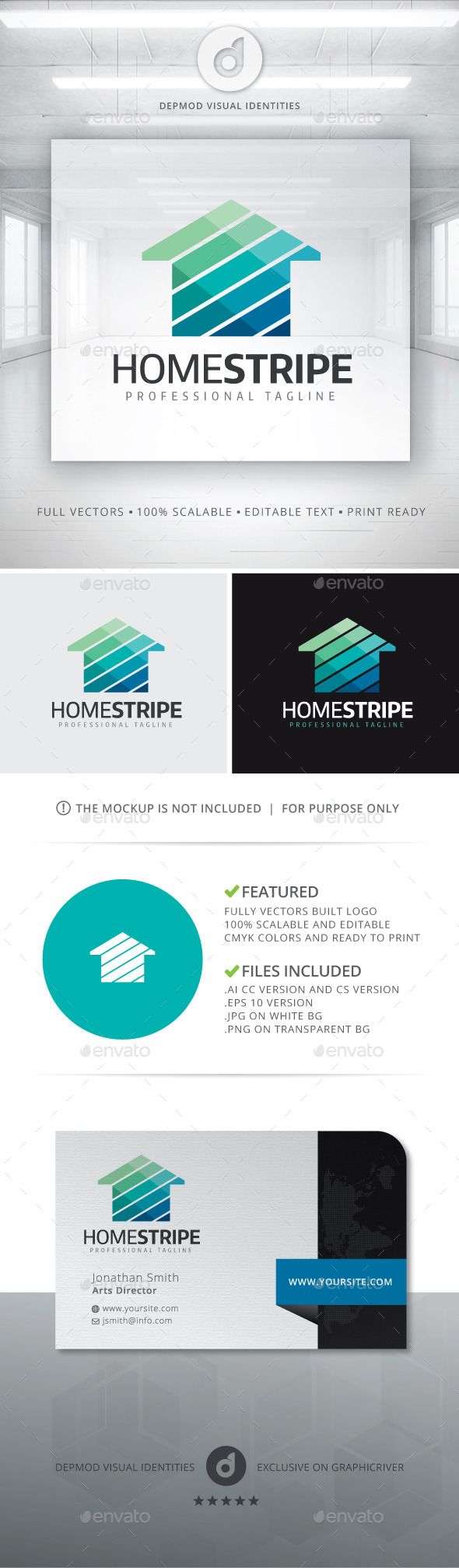 Home Stripe Logo - Buildings Logo Templates