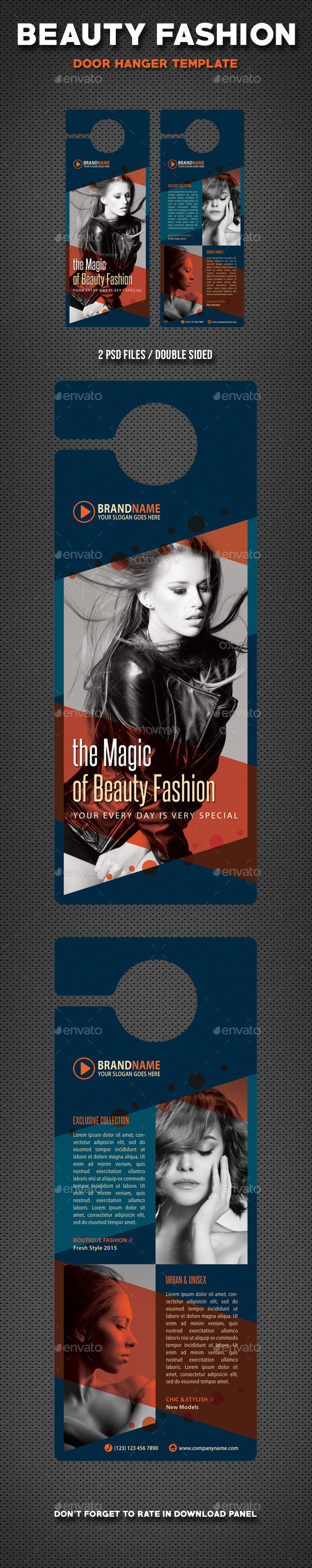 Beauty Fashion Door Hanger V3 - Miscellaneous Print Templates