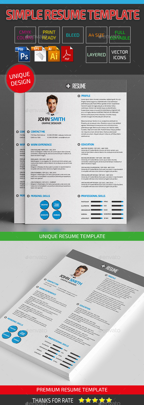 Simple Resume Template 21