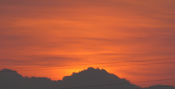Sunrise and Power Line 01