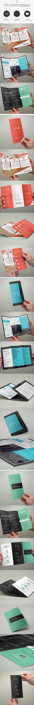 Bundle - Clean Multipurpose Trifold Brochures - 12 - Corporate Brochures