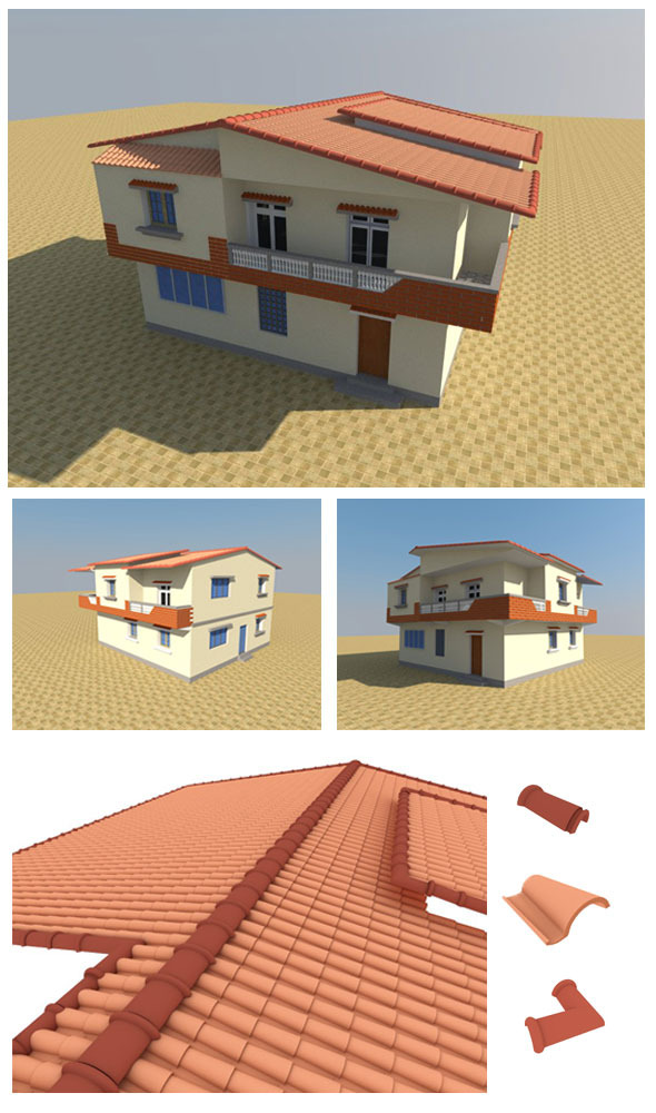 3D Individual house - 3DOcean Item for Sale