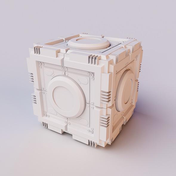 Sci-Fi Cube - 3DOcean Item for Sale
