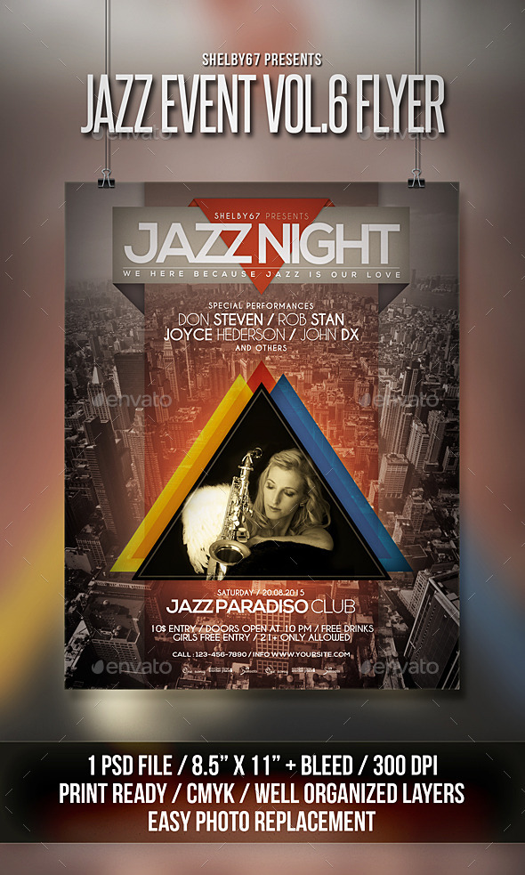 Jazz Event Flyer / Poster Vol 6 - Events Flyers
