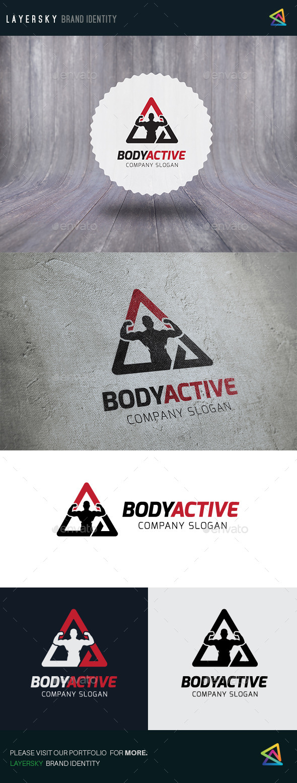 Body Active - Humans Logo Templates