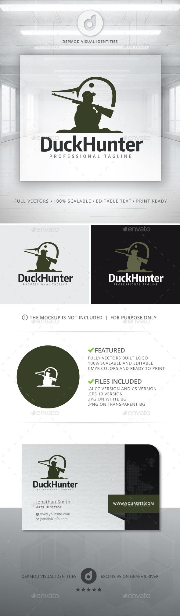 Duck Hunter Logo - Humans Logo Templates