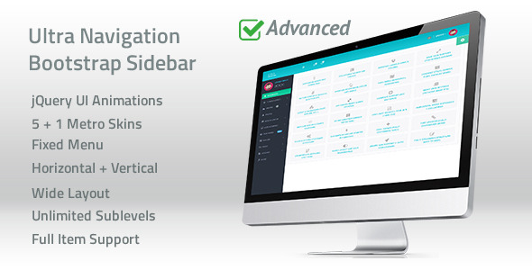 Ultra Navigation - Responsive Bootstrap Sidebar Menu - CodeCanyon Item for Sale