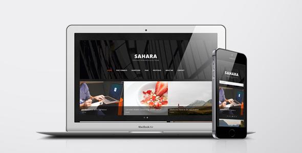 Sahara – A Clean & Responsive Drupal Blog Theme