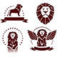 Lions Simple Emblems Set - GraphicRiver Item for Sale