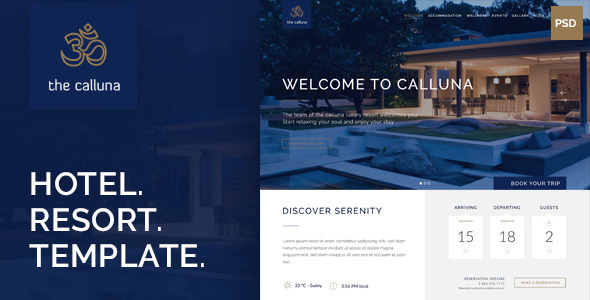 Calluna – Hotel, Resort & Spa PSD Template