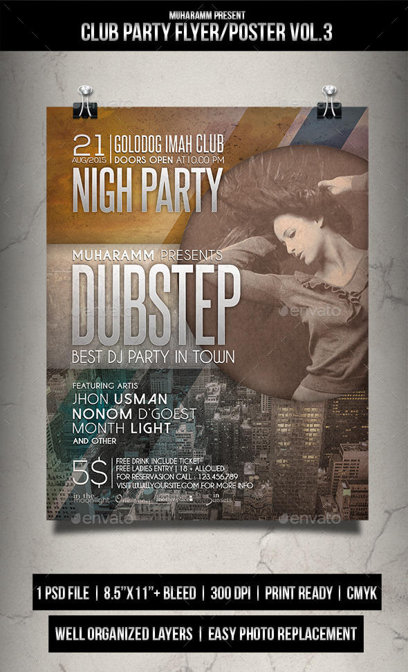 Club Party Flyer Poster Vol.2