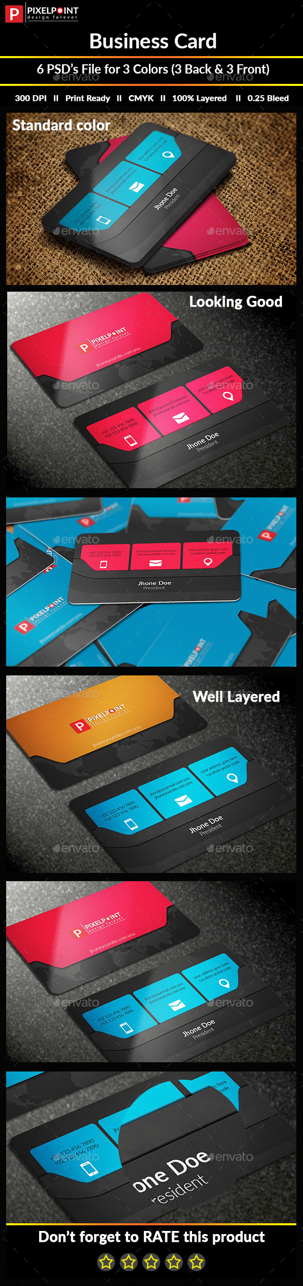Blackish Personal Business Card - Business Cards Print Templates