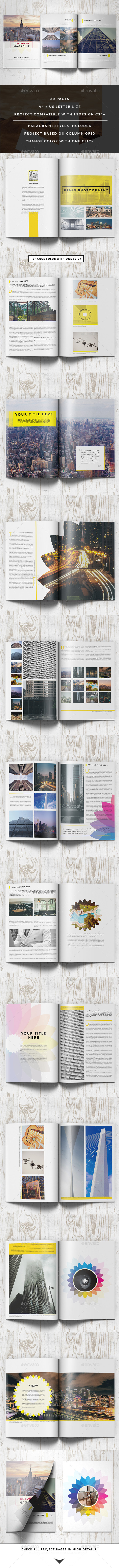 Clean Colorful Magazine - Magazines Print Templates