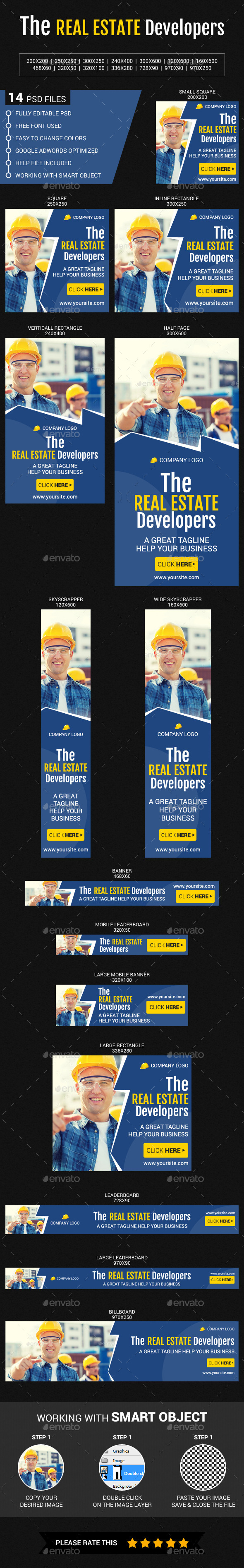Real Estate Developers - Banners & Ads Web Elements