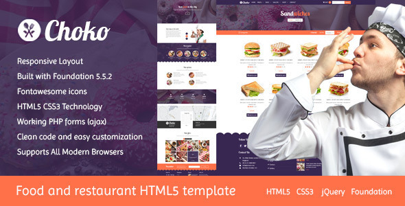 Choko – Chef & Food HTML5 Template