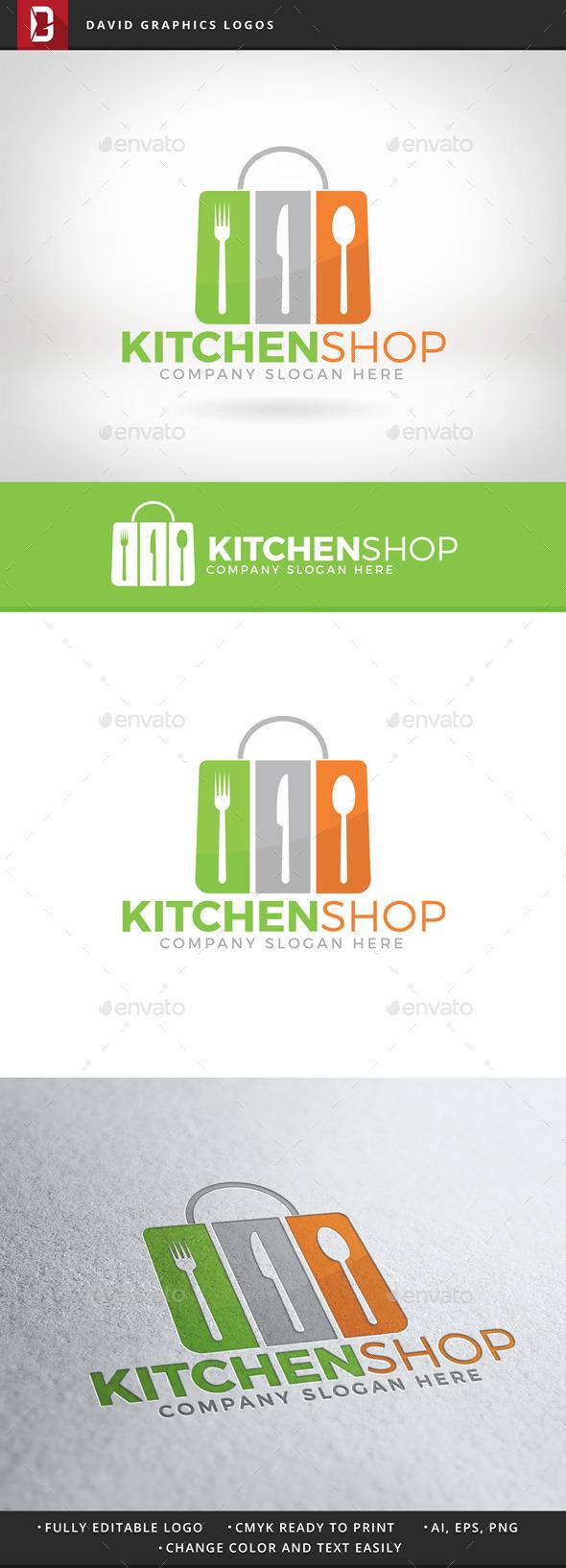 Kitchen Shop Logo - Food Logo Templates