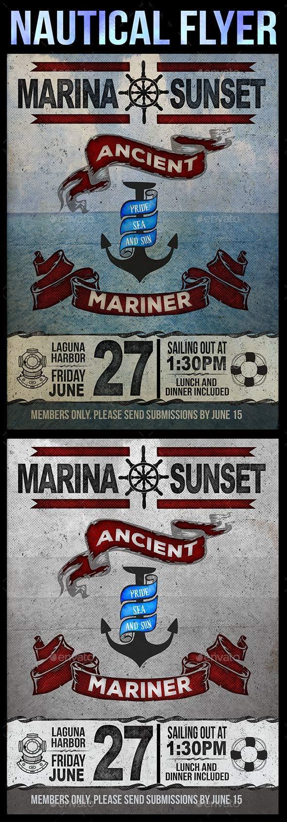 Nautical Flyer Card
