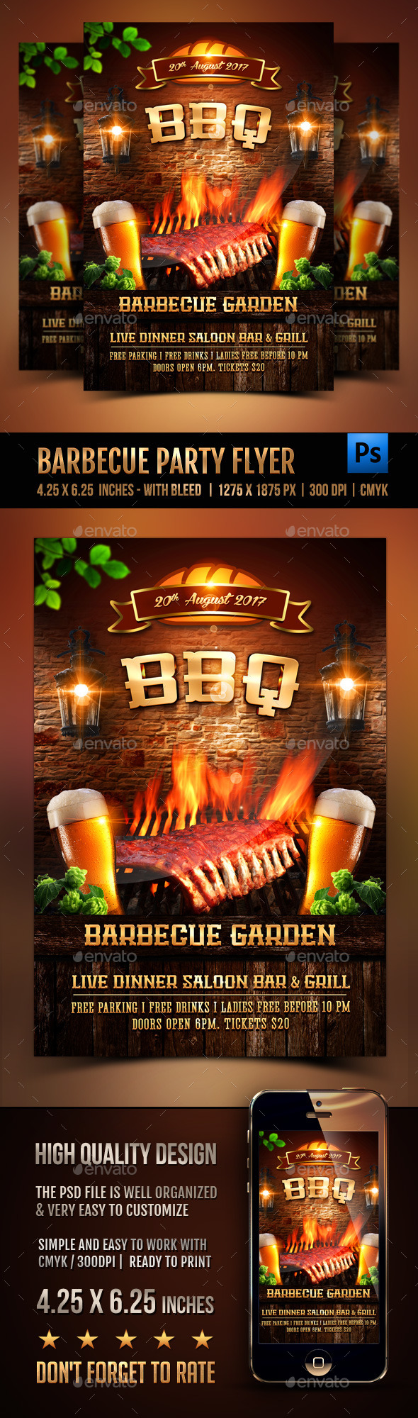 Barbecue Party Flyer - Events Flyers