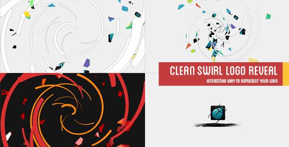 Clean Twisting Logo Reveal