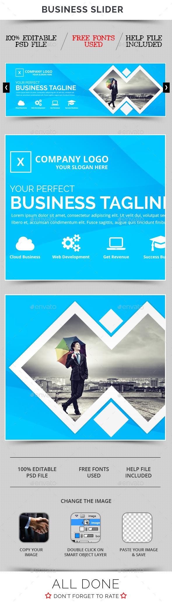 Business Slider V29 - Sliders & Features Web Elements