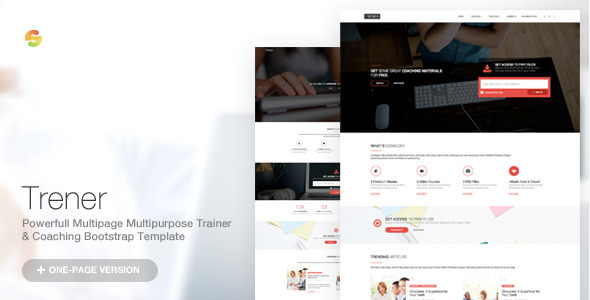 Trener - Multipurpose Coaching & Training Template - Corporate Site Templates