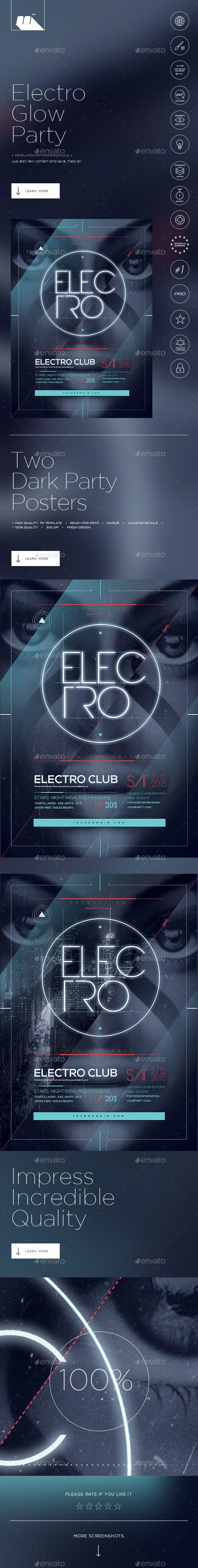 Electro Glow Poster