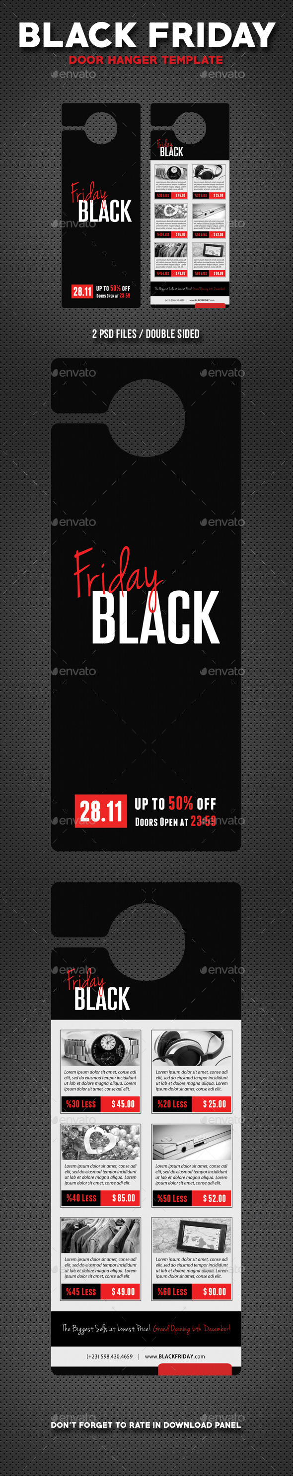 Black Friday Door Hanger V4 - Miscellaneous Print Templates