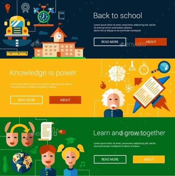 Set of Flat School Designs - Miscellaneous Vectors