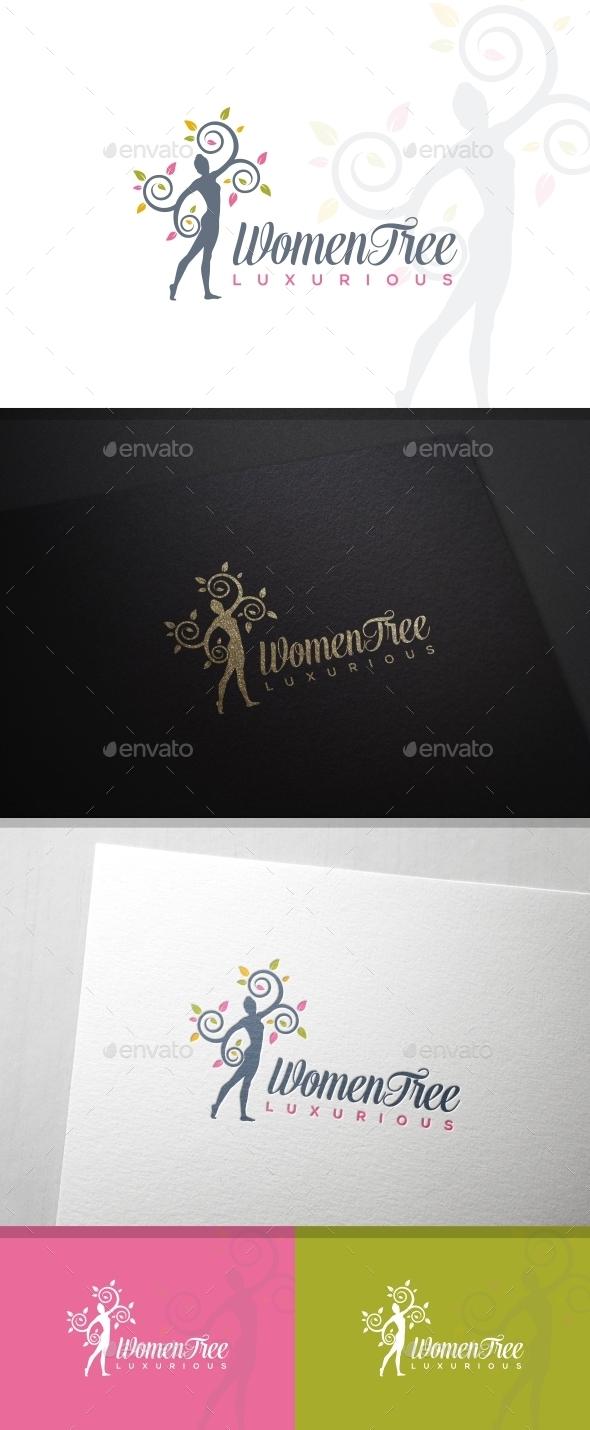 WomenTree Beauty & Spa Logo Template - Humans Logo Templates