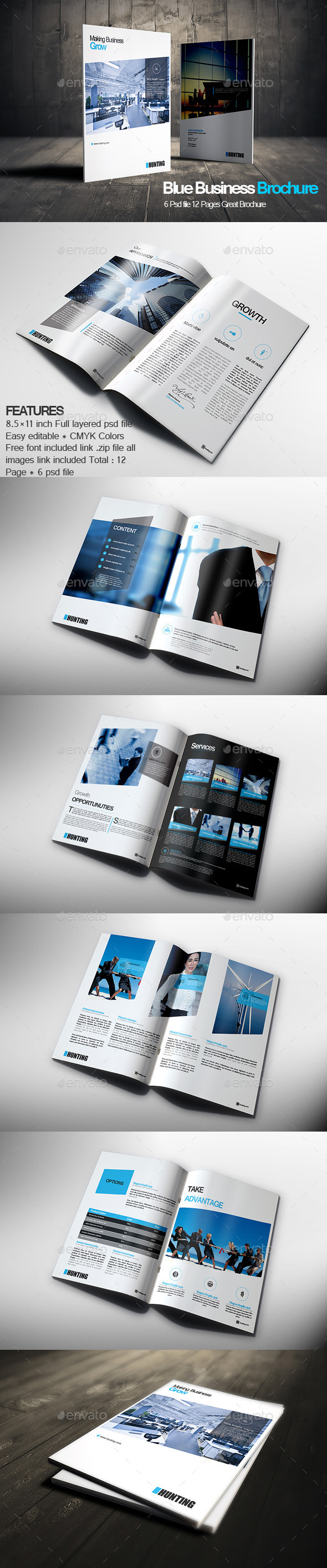 Blue Business Brochure - Corporate Brochures