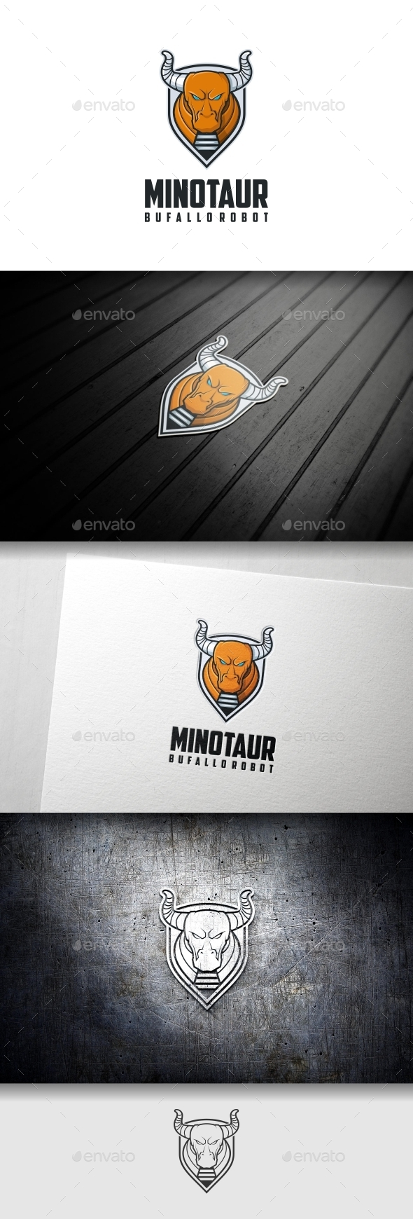 Minotaur Buffalo Logo Template - Animals Logo Templates