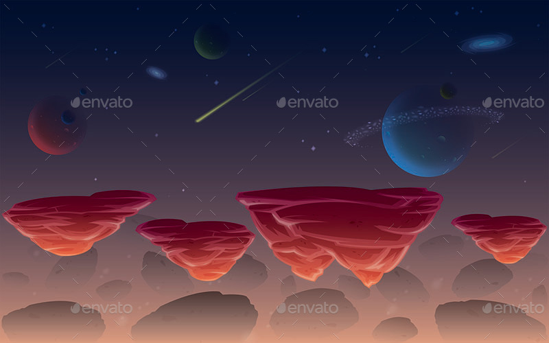 space  candy  u0026 sky game background by scworkspace
