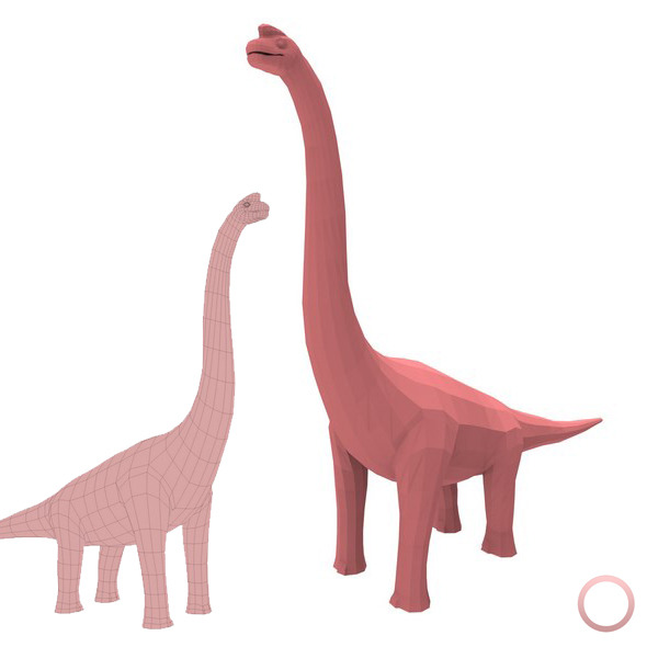 Brachiosaurus Base Mesh - 3DOcean Item for Sale