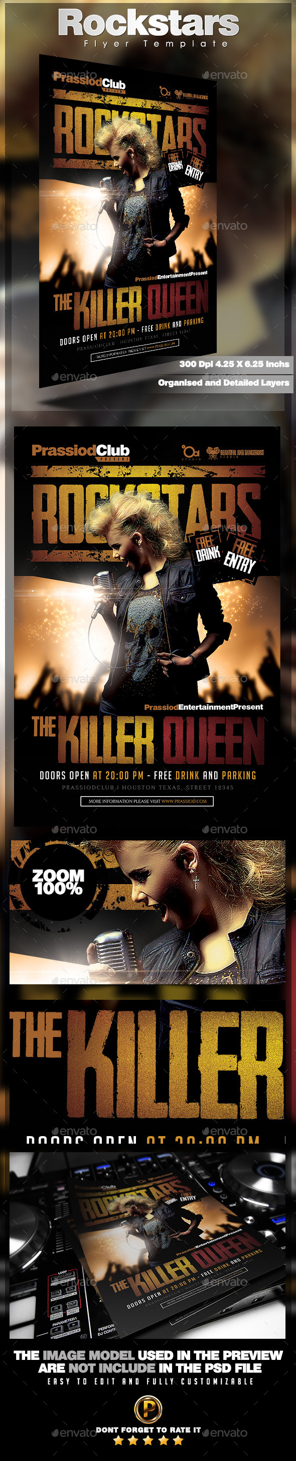 Rockstar Flyer Template - Concerts Events