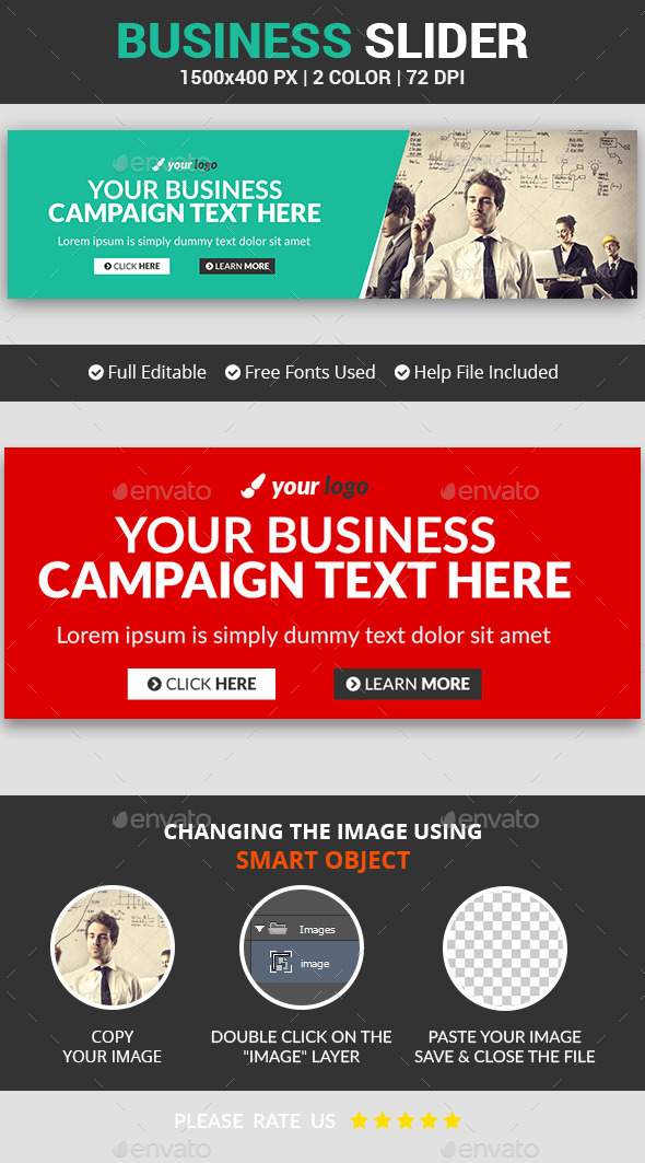 Business Slider v2 - Sliders & Features Web Elements