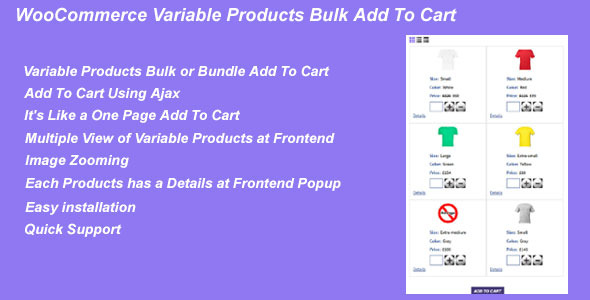 WooCommerce Variable Products Bulk Add To Cart - CodeCanyon Item for Sale