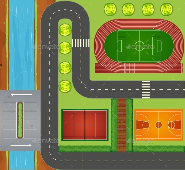 Roads and Sports Facilities - Miscellaneous Conceptual