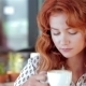 Beautiful Girl In Cafe - VideoHive Item for Sale