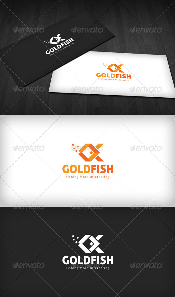Gold Fish Logo - Nature Logo Templates