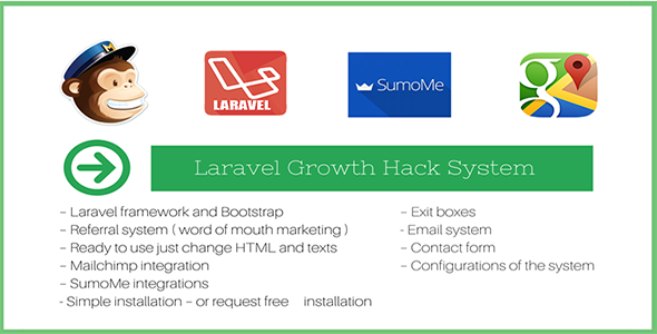 Full functionality landing page plus referral system - CodeCanyon Item for Sale