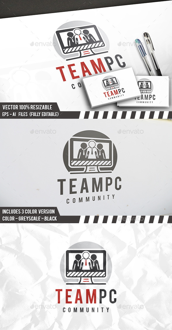 Pc Team Logo - Objects Logo Templates