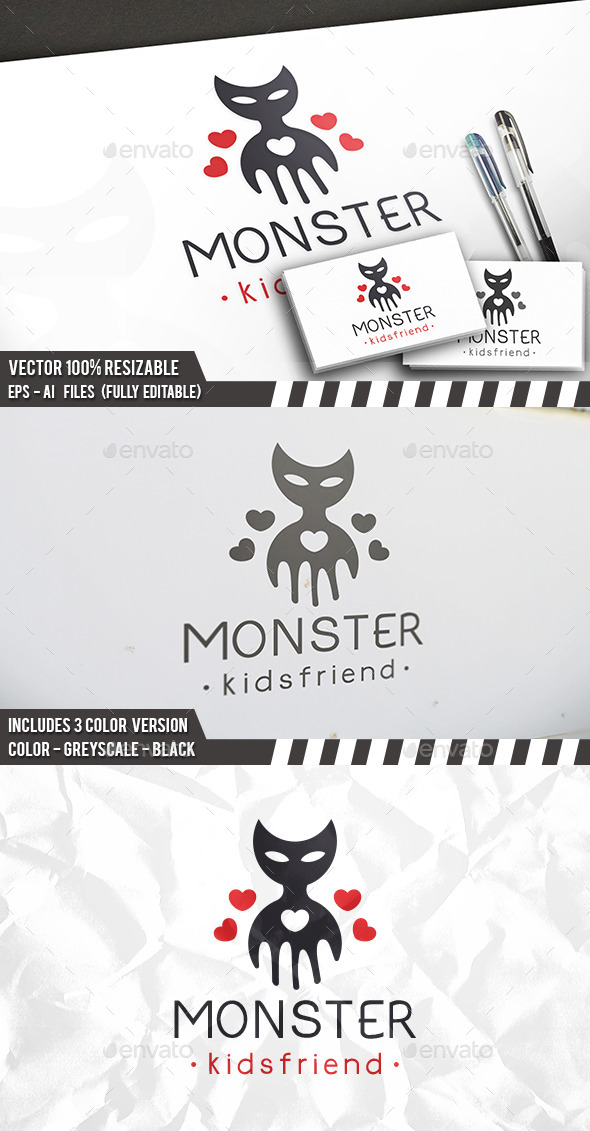 Evil Love Logo - Animals Logo Templates