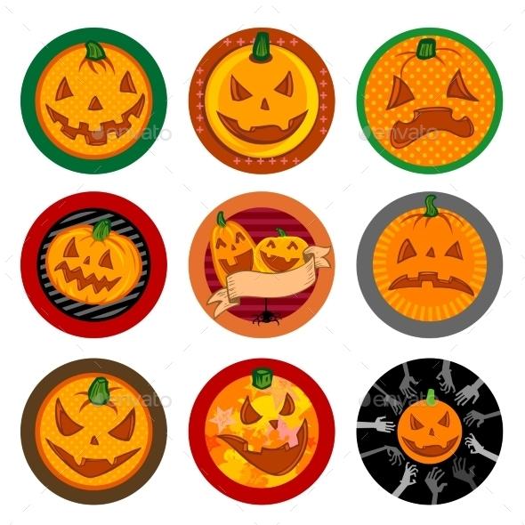 Hallooween Vector Drink Coasters  - Halloween Seasons/Holidays