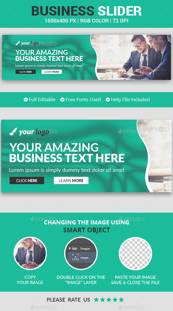 Business Slider v3 - Sliders & Features Web Elements