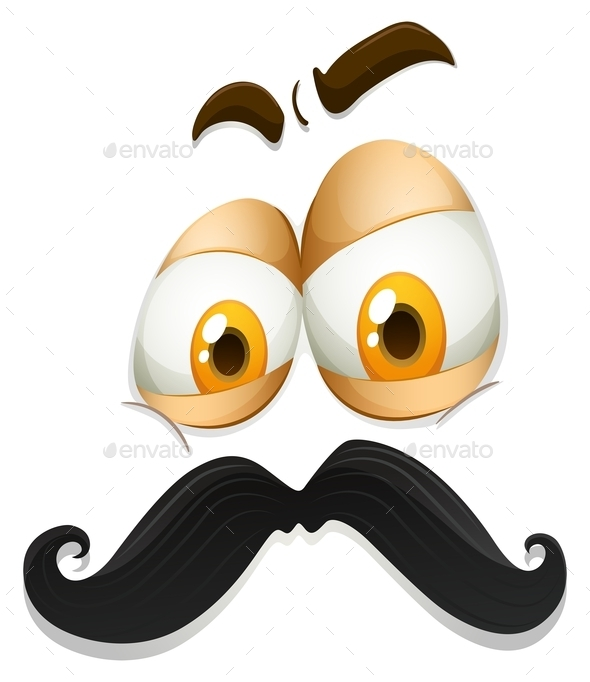 Facial Expression With Mustache - Miscellaneous Conceptual