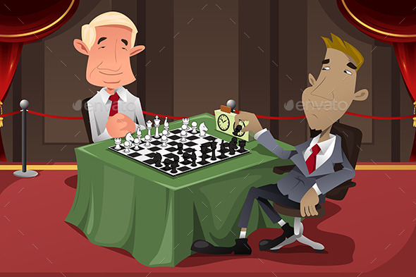 Businessmen Playing Chess - Concepts Business