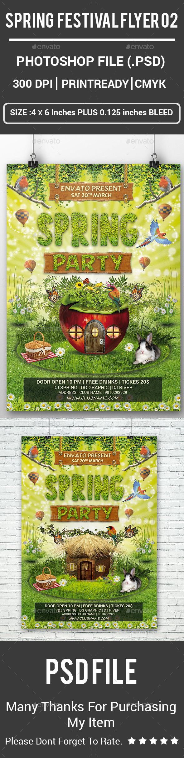 Spring Festival Flyer 02 - Events Flyers